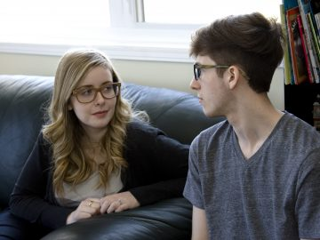 Couple dealing with conflict resolution